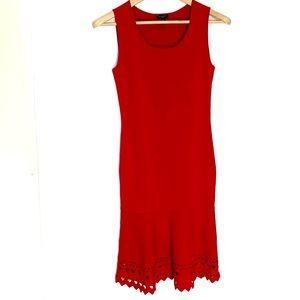 Ann Taylor sleeveless red dress